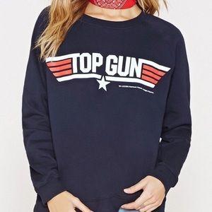 Top Gun Graphic Crew Neck Sweatshirt